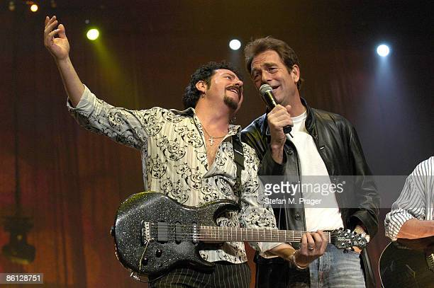 Photo of TOTO and Steve LUKATHER and Huey LEWIS Steve Lukather Huey Lewis at the finale of the Nokia Night Of The Proms in the Olympiahalle