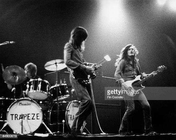ROUNDHOUSE Photo of TRAPEZE LR Dave Holland Mel Galley and Glenn Hughes performing on stage