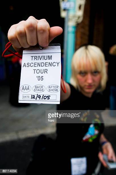 CONCORDE 2 Photo of TRIVIUM Fan with backstage pass