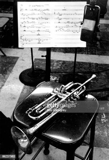 Photo of TRUMPET and Chet BAKER and JAZZ; Chet Baker's trumpet