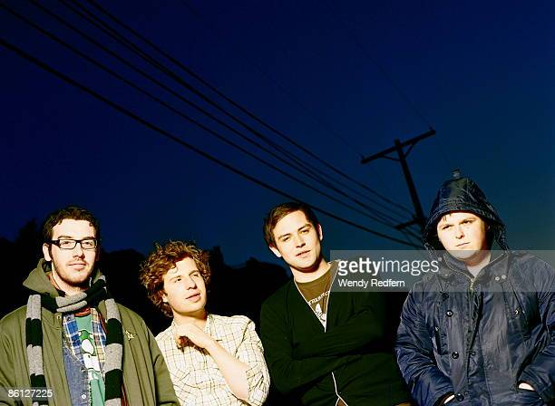 Photo of TWILIGHT SAD and James GRAHAM and Mark DEVINE and Andy McFARLANE and Craig ORZEL Posed group portrait LR Craig Orzel Andy MacFarlane James...