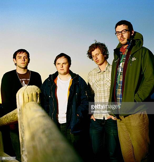Photo of TWILIGHT SAD and James GRAHAM and Mark DEVINE and Andy McFARLANE and Craig ORZEL Posed group portrait LR James Graham Mark Devine Andy...