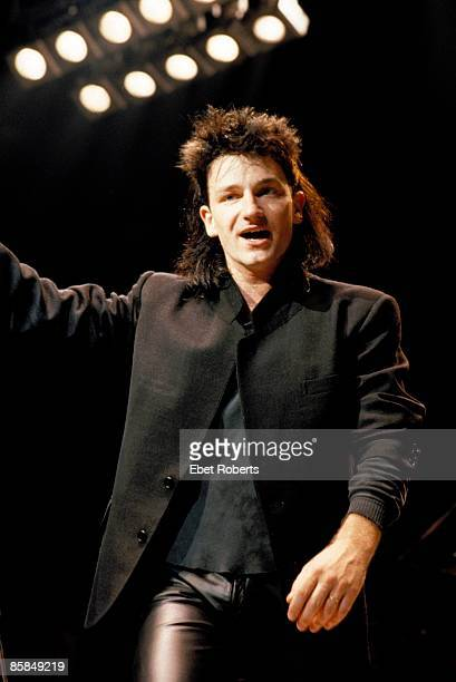GARDEN Photo of U2 Bono performing live onstage on The Unforgettable Fire tour