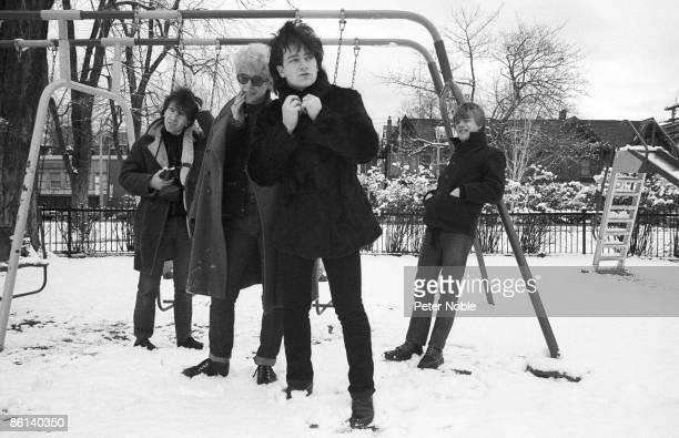 Photo of U2 LR The Edge Adam Clayton Bono Larry Mullen posed group shot