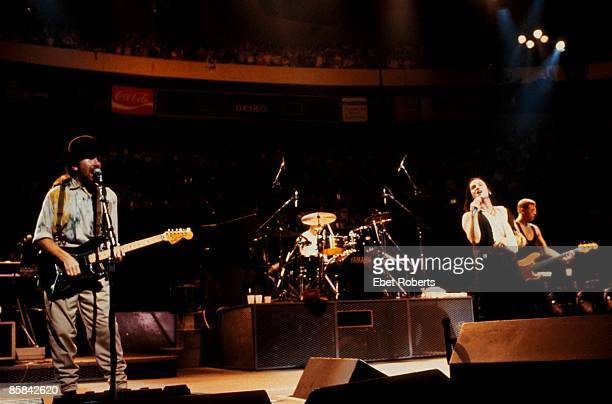 The Edge Larry Mullen Jnr Bono Adam Clayton performing live onstage on The Joshua Tree tour