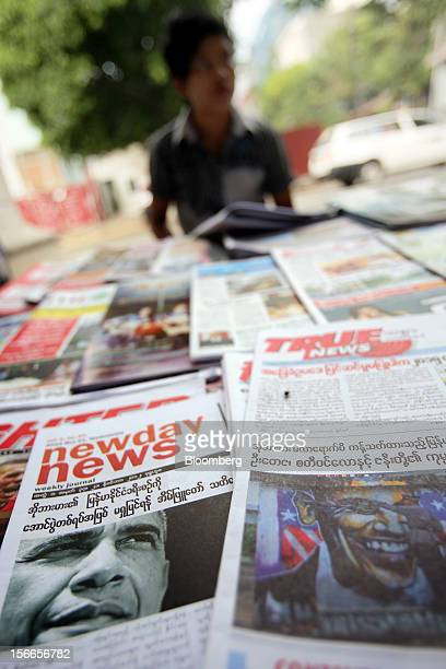 Myanmar Newspaper Stock Photos and Pictures |