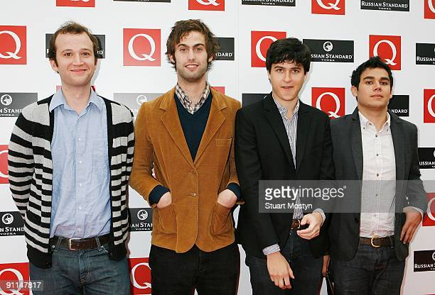 AWARDS Photo of VAMPIRE WEEKEND and Chris BAIO and Chris TOMSON and Ezra KOENIG and Rostam BATMANGLIJ Group portrait of Vampire Weekend arriving at...