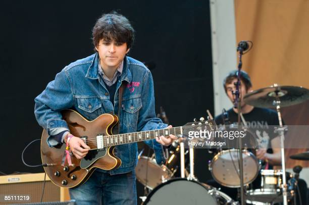 FESTIVAL Photo of VAMPIRE WEEKEND and Ezra KOENIG and Chris TOMSON Ezra Koenig and Chris Tomson performing on the Other Stage