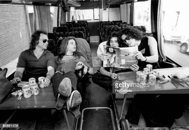 Photo of VAN HALEN and Michael ANTHONY and Alex VAN HALEN and Eddie VAN HALEN and David LEE ROTH LR Michael Anthony David Lee Roth Eddie Van Halen...