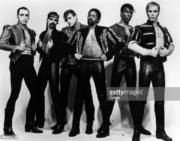 Photo of VILLAGE PEOPLE Posed full length studio group portrait of the Village People