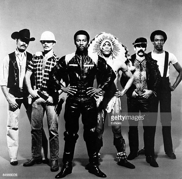 Photo of VILLAGE PEOPLE Posed studio full length group portrait of the Village People