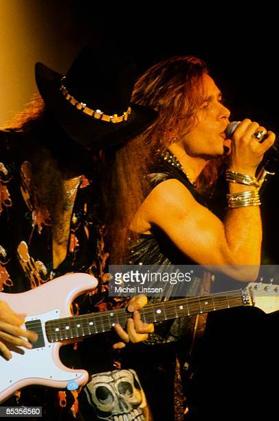 NETHERLANDS Photo of Vito BRATTA and WHITE LION Vito Bratta and Mike Tramp performing live onstage c1991