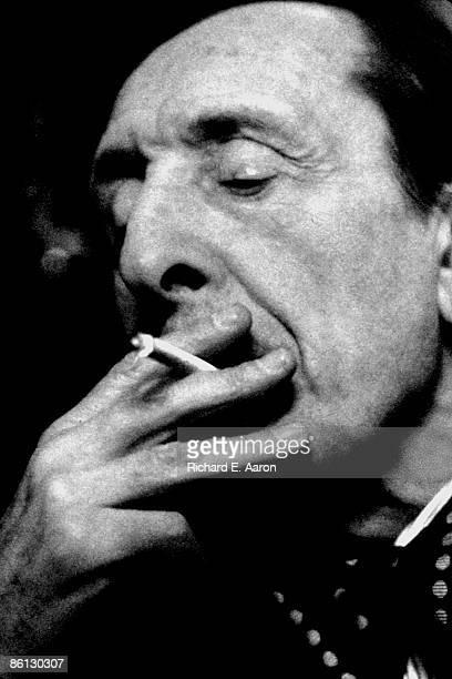 Photo of Vladimir HOROWITZ, Portrait of pianist Vladimir Horowitz smoking a cigarette backstage