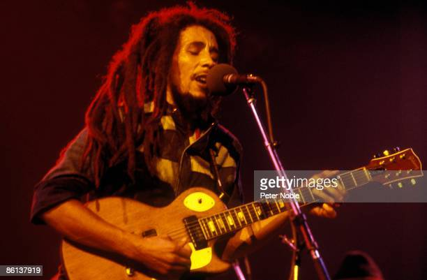 Photo of WAILERS and Bob MARLEY Bob Marley performing live on stage at the Maple Leaf Garden Toronto