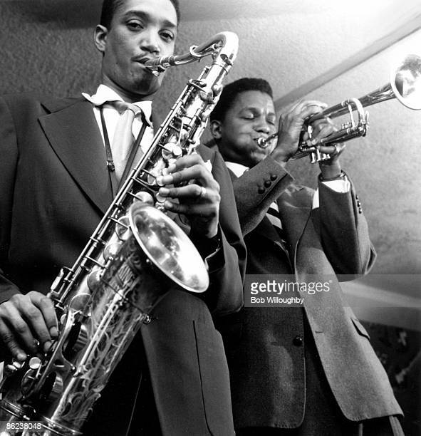 Photo of Wardell GRAY and Ray ANDERSON; with Ray Anderson