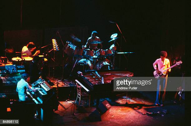 Photo of WEATHER REPORT and Joe ZAWINUL and Alphonso JOHNSON, Group performing on stage, Joe Zawinul and Alphonso Johnson