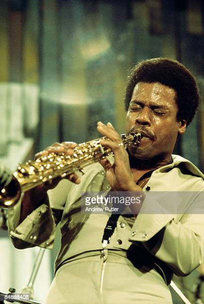 Photo of WEATHER REPORT and Wayne SHORTER, Wayne Shorter performing on stage