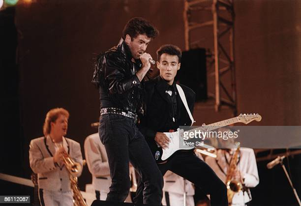 Photo of WHAM!, George Michael & Andrew Ridgely at Wham! Farewell concert