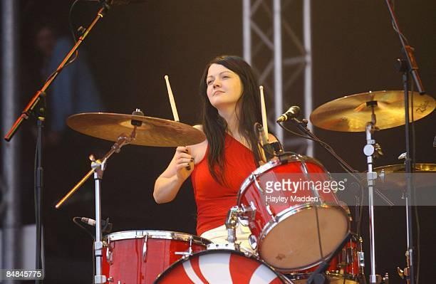 FESTIVAL Photo of WHITE STRIPES Meg White performing on stage