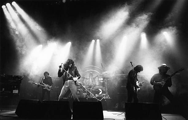 Photo of WHITESNAKE and Colin HODGKINSON and David COVERDALE and Cozy POWELL and Mel GALLEY and Mick MOODY