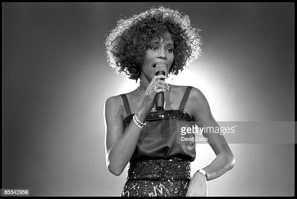 ARENA Photo of Whitney HOUSTON Whitney Houston performing on stage