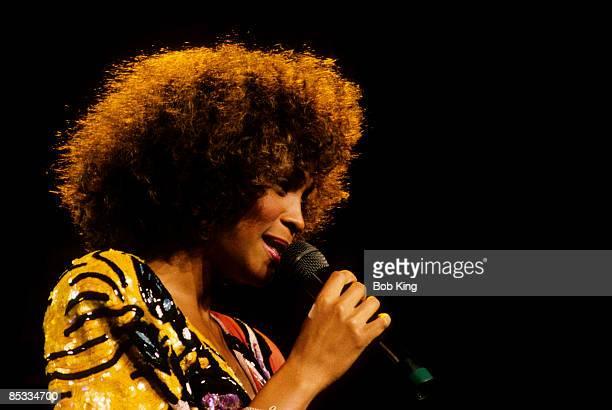 Photo of Whitney HOUSTON Whitney Houston performing on stage profile