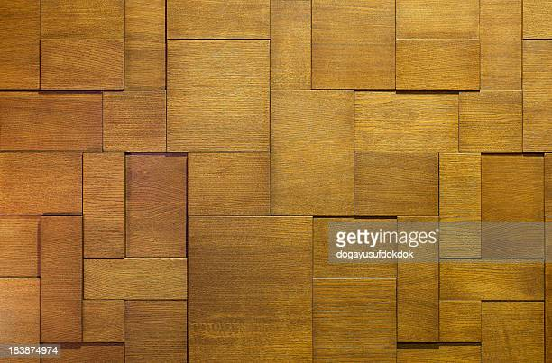 Photo of wooden background interlocking pieces of wood