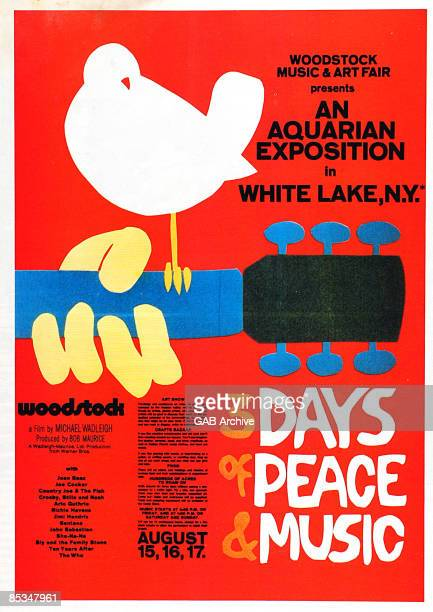 Photo of WOODSTOCK Poster for the Woodstock film