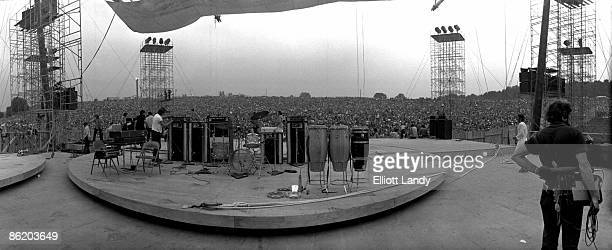 FESTIVAL Photo of WOODSTOCK The stage that was supposed to rotate Woodstock Festival Bethel NY 1969