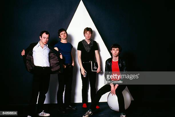 Photo of XTC and Barry ANDREWS and Terry CHAMBERS and Andy PARTRIDGE and Colin MOULDING Barry Andrews Terry Chambers Andy Partridge and Colin Moulding