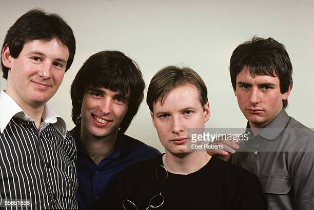 UNITED STATES JANUARY 28 Photo of XTC and Colin MOULDING and Dave GREGORY and Andy PARTRIDGE and Terry CHAMBERS LR Dave Gregory Colin Moulding Andy...