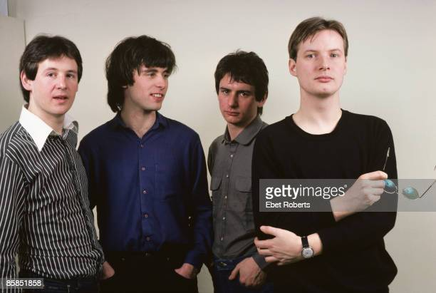 UNITED STATES JANUARY 28 Photo of XTC and Colin MOULDING and Dave GREGORY and Andy PARTRIDGE and Terry CHAMBERS LR Dave Gregory Colin Moulding Terry...