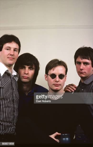Photo of XTC and Colin MOULDING and Dave GREGORY and Andy PARTRIDGE and Terry CHAMBERS LR Dave Gregory Colin Moulding Andy Partridge Terry Chambers...