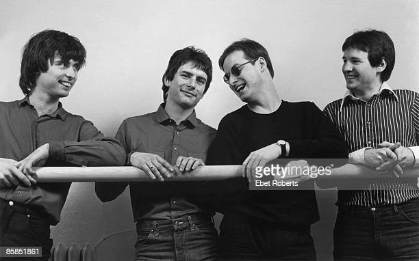Photo of XTC and Colin MOULDING and Dave GREGORY and Andy PARTRIDGE and Terry CHAMBERS LR Colin Moulding Terry Chambers Andy Partridge Dave Gregory...