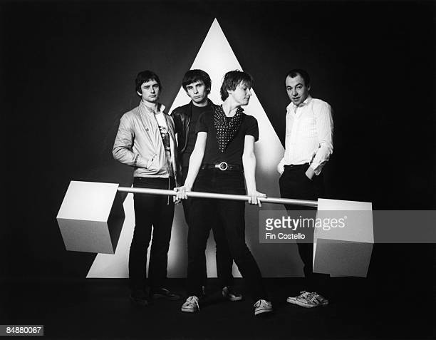 Photo of XTC LR Terry Chambers Colin Moulding Andy Partridge Barry Andrews