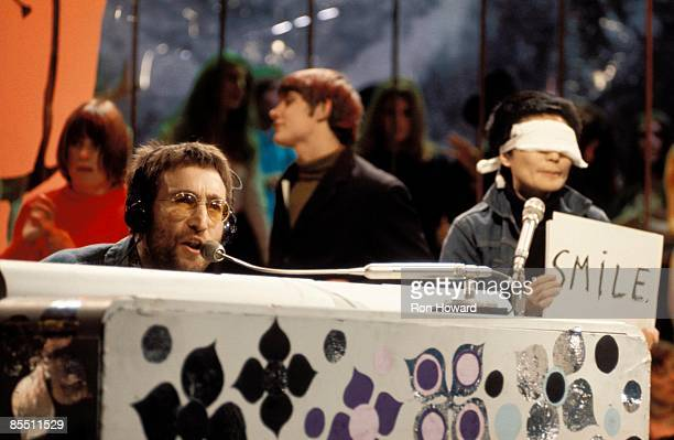POPS Photo of Yoko ONO and John LENNON John Lennon Yoko Ono Plastic Ono Band performing Instant Karma