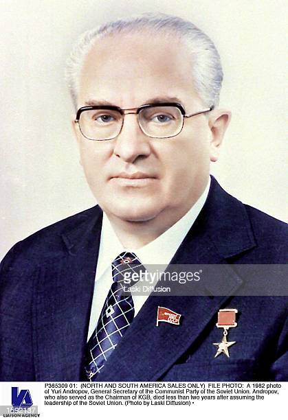 A 1982 photo of Yuri Andropov General Secretary of the Communist Party of the Soviet Union Andropov who also served as the Chairman of KGB died less...