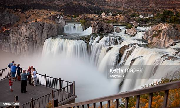 photo op at shoshone falls, idaho - terryfic3d stock pictures, royalty-free photos & images