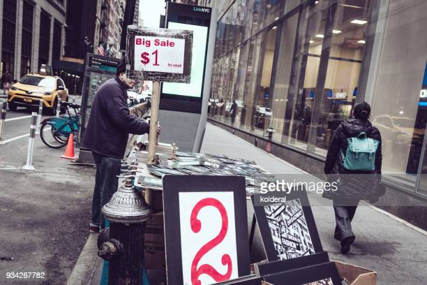 Photo Prints for sale on the street in Midtown Manhattan