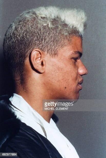 Photo prise le 04 décembre1987 de Thierry Paulin 22 ans meurtrier de 19 personnes âgées après son arrestation du 02 décembre 1987 et sa mise en...