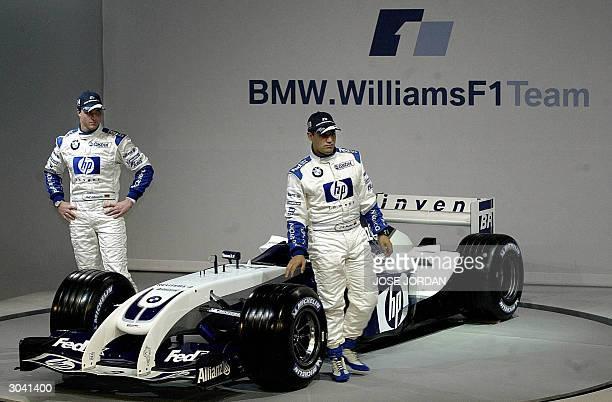 GP D'AUSTRALIE LE NEZ D'ANTONIA TERZI Photo prise le 05 janvier 2004 a Cheste en Espagne des pilotes de BMWWilliams F1 l'Allemand Ralf Schumacher et...