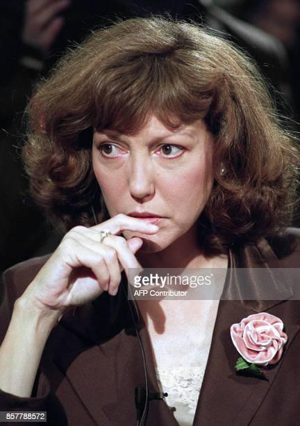 Photo prise le 06 octobre 1989 à Paris de l'écrivain Anne Wiazemsky qui a reçu le 29 octobre le Grand Prix du roman de l'Académie française pour 'Une...