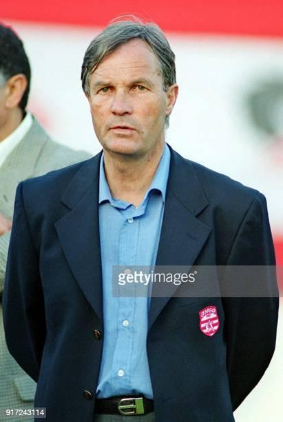 photo prise le 20 juin 2001 à Tunis de l'entraîneur français du Club Africain René Exbrayat AFP PHOTO FETHI BELAID / AFP PHOTO /