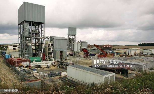 Photo prise le 23 août 2005 du site d'enfouissement de déchets nucléaires de Bure géré par l'Agence nationale pour la gestion des déchets radioactifs...