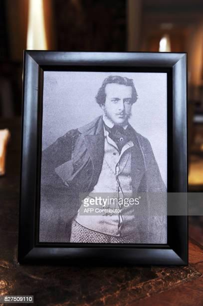 Photo prise le 28 Novembre 2010 à Amboise, d'une reproduction d'un ferotype non daté, unique photo connue de l'écrivain français du dix neuvième...