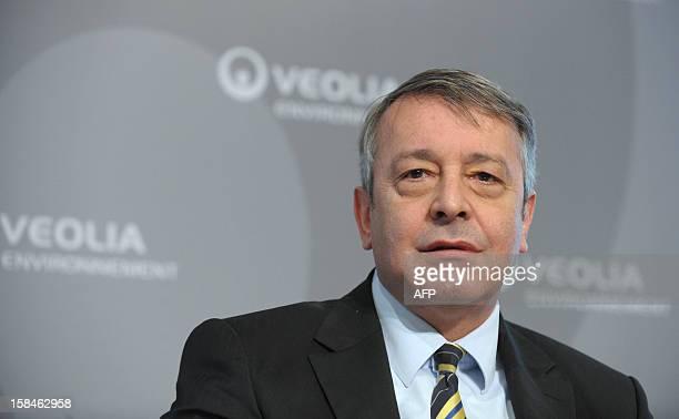 Photo prise le 4 mars 20111 à Paris du PDG du groupe Veolia Environnement Antoine Frerot Le conseil d'administration de Veolia Environnement réuni le...