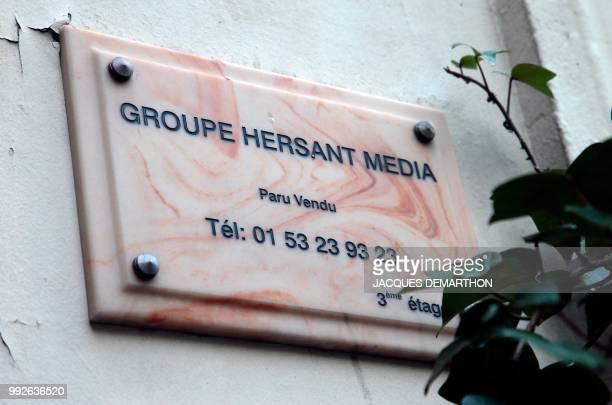 Photo réalisée le 6 février 2013 à Paris de l'immeuble abritant certains des services de Groupe Hersant Media ParuVendu Des premières difficultés du...