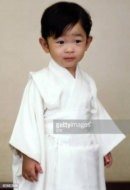 Photo released by the Imperial Household Agency show Japanese Prince Hisahito, son of Prince Akishino and Princess Kiko, is seen at their residence...