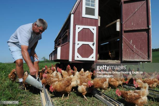 Photo Ryan McFadden Spring Creek Farms, Forrest Stricker and his son Greg Stricker operate the family farm in Heidelberg twp, Forrest lives a few...