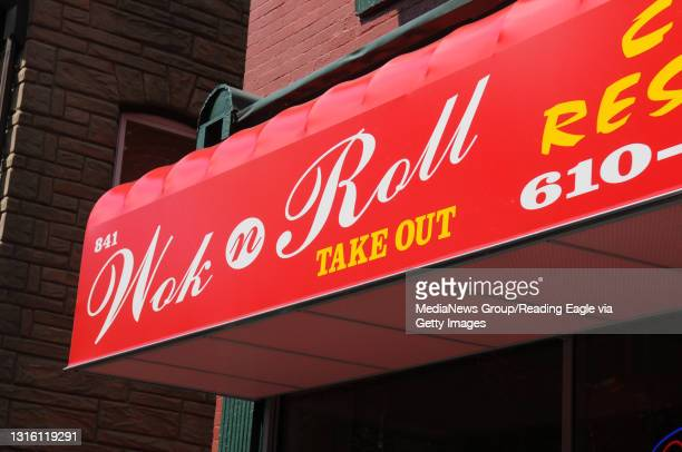 Photo Ryan McFadden Wok N Roll on Washington St in Reading. Owner Ding Quan Hong and his wife Lily Seow run the new Chinese restaurant.
